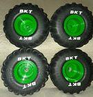 BKT Spin Master Grave Digger RC Monster Jam Wheel Tire Front/Back (4) w/ screws