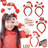 Christmas LED Light Hairband For Kids Headband Santa Reindeer Xmas Fancy Dress