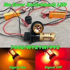 NO ERROR RED AMBER Switchback 54 LED Rear Signal Bulb DRL W21W 7440 992 W1 JAE