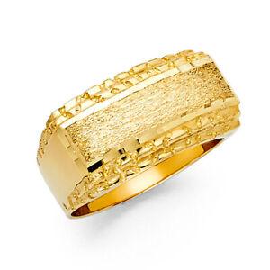 14K Yellow Gold Men's Gold Ring / Avg. Weight - 7.1 grams