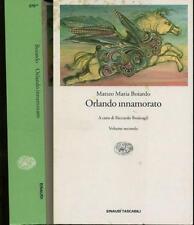 LN- ORLANDO INNAMORATO VOLUME SECONDO - BOIARDO - EINAUDI --- 1995- B- XFS34
