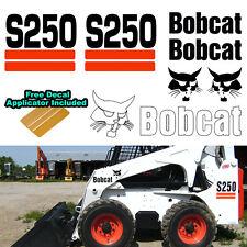 Bobcat S250 S 250 Skid Steer Set Vinyl Decal Sticker 7 PC SET + DECAL APPLICATOR