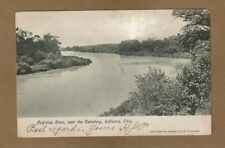 Defiance,OH Ohio,Auglaize River, near the Cemetery used 1908 undivided back