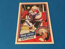 Doug Jarvis 1984-85 Topps Hockey Signed Auto Card