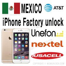MEXICO AT&T Unefon Nextel Iusacell Unlock Service iPhone 7 7+ 6S 6S+ SE Plus
