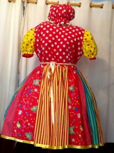 Spot and stripe Pantomime Dame Costume Theatre Stage Panto Outfit Used