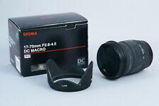 Objectif Sigma 17-70mm f2. 8-4 DC Macro monture sony BAISSE DE PRIX