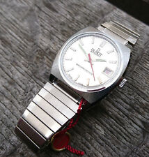 VINTAGE 1970´s NOS Duxot DE LUXE AUTOMATIC SWISS MADE Date Watch 21 gioiello