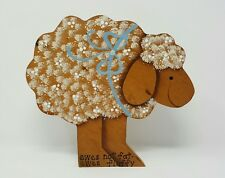 Country Wood Sheep Ewes Not Fat Ewes Fluffy Decorative Hanging Country Decor