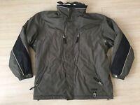 Bogner Sport Green Black Olive Ski Jacket Hooded Coat Full Zip Mens 40 Large