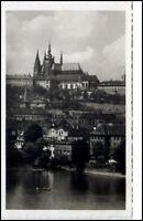 Prag Praha Tschechien Postkarte ~1950/60 Blick zur Burg Hradschin Hradčany