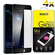[4x] Khaos For Huawei P10 [Black] HD Tempered Glass Screen Protector