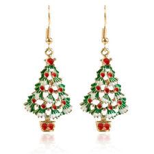 Christmas Tree Shape Dangle Hook Earrings Jewelry Wild Women's Hollow Earrings