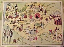 Carte de France Illustrées d'après Pinchon Bordeaux Arcachon Agent Pruneaux