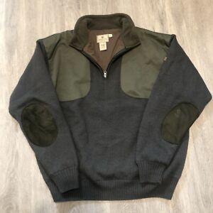 Beretta Mens Large 100% zip pullover Dark Green - Hunting Outdoors Winter Fall