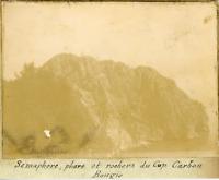 Algérie, Phare et rochers du Cap Carbon ca.1899 vintage citrate print Vintage ci