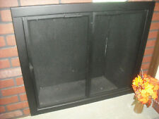 "Stoll Essential Collection  Mesh Fireplace Door Custom Texture Black 34"" x 30"""