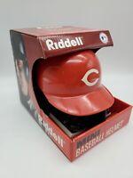 NEW VINTAGE MLB Riddell Baseball Red Mini Helmet CINCINNATI REDS With Stand