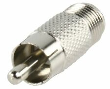 Adaptor F Socket Female To RCA Phono Male Plug