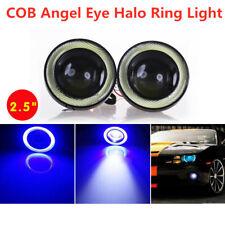 "2.5"" Inch Blue LED Projector COB Angel Eye Fog Light Halo Ring Driving Lamp Kit"