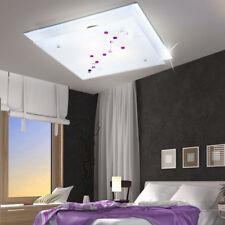 Lumière de Plafond Luminaire Métal Verre Salon Lampe Pierres Décoratives Coloré