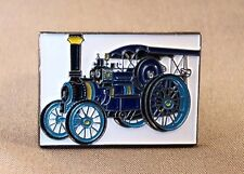 Metal Enamel Pin Badge Brooch Traction Engine Steam Engine NTET Blue