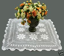 "Hand Knitted Vintage Crochet Lace Doilies Placemat Table Runner 30x30"" Off White"
