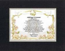 Personalized Heartfelt Love Poem -  Marriage is Forever . . .