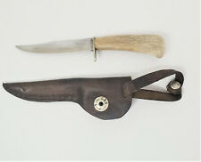 "Miniature Filet Knife Bakelite Handle Fixed Combo Blade 2-3/4"" with Sheath RARE"
