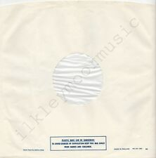 "Vintage INNER SLEEVE or SLEEVES 12"" POLYDOR lined v05 PLASTIC BAGS 15801 ### x 2"
