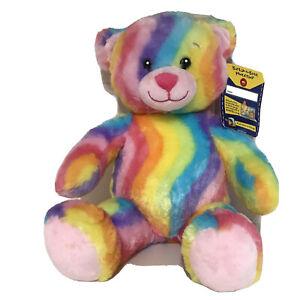 Build A Bear Plush Enchanted Garden Rainbow Hugs Teddy Pastel Swirl Soft Toy NWT