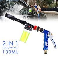 High Pressure Snow Foam Water Car Wash Spray Gun Cleaning Hose Pipe 100ml AU