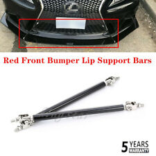 Adjustable Black Front Bumper Lip Splitter Strut Rod Tie Support Bars Universal