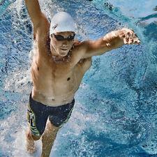 Speedo Solid Latex Swimming Swim Cap White Unisex Water UV Protection Flexible