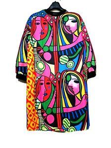 Stella Design By Korea Picasso Printed Sweater Dress