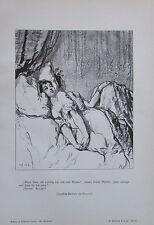 1904 GAVARNI Liebe Männer Narren - Französische Karikatur Alter Druck Old print