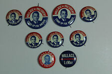 George Wallace Political Button Democratic Party Union Made