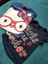 girl summer top tshirt bundle of 2 blue hello kitty 4-5 years