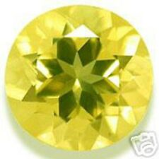 A pair of 5.5 mm Round Brilliant Yellow CZ AAAAA
