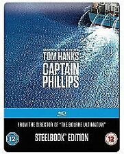 Captain Phillips (Blu-ray, 2014) Steelbook edition BLURAY BRAND NEW ultraviolet
