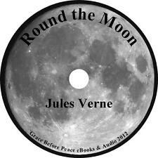 Round the Moon, Jules Verne Sci-Fi Action Adventure Audiobook on 1 MP3 CD