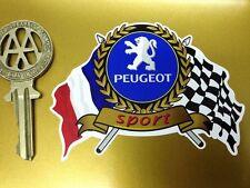 PEUGEOT SPORT Flags & Scroll classic car sticker 205 306 207 307 GTi Rallye