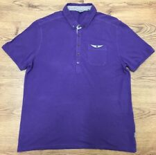 TED BAKER Men's Polo Shirt Tshirt Smart Purple Size 5 XL