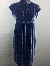Cynthia Steffe 6 Purple Velvet Cocktail Dress Anthropologie Lavender Peep Neck