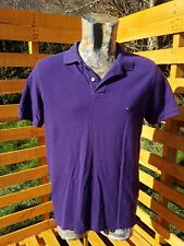 Tommy Hilfiger Polo Shirt Top Large Slim Fit Short Sleeve