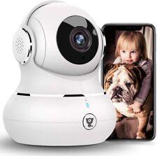 WLAN IP Kamera, 1080P WiFi Kamera Babyphone mit Nachtsicht, Audio, Bewegungserke