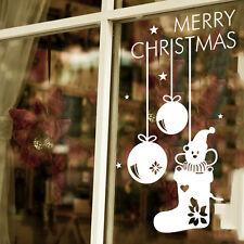 Christmas Snowflake Pendant Stickers New Year Celebrate Craved Window Sticker