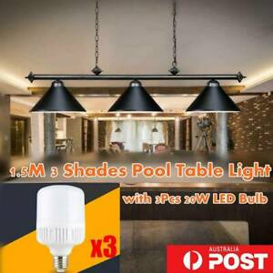 Quality Metal Pool Billiard Lighting Snooker Table Light Classic Lamp W/3 Shade
