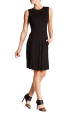 Vince. black Sleeveless Fitted Dress 6 M NWT $375