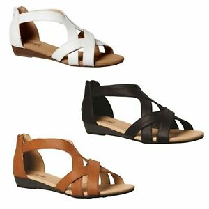Grosby Felicia Black Tan Taupe White Nude Womens Ladies Sandal Sandals Shoes